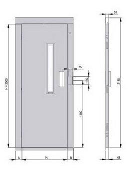 Mev puertas semiautom ticas for Puertas de aluminio medidas estandar